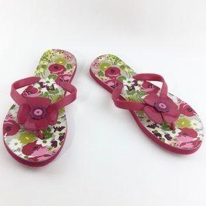 Vera Bradley floral print flip flop Size M